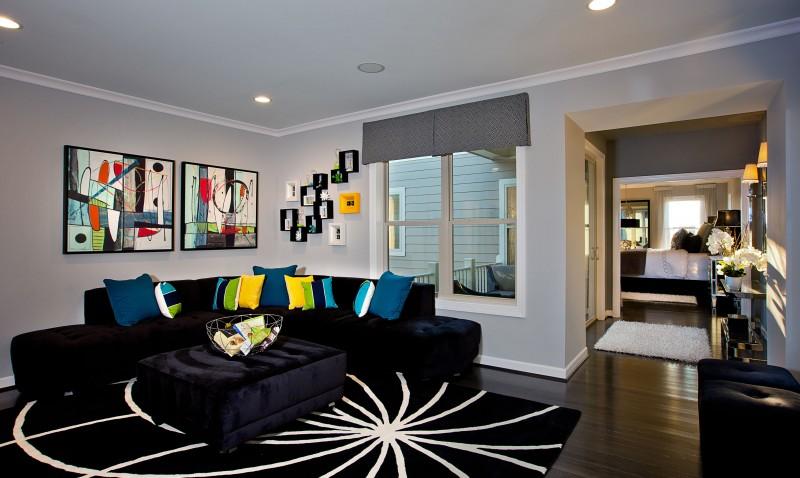 townhomes condominiums model home interiors